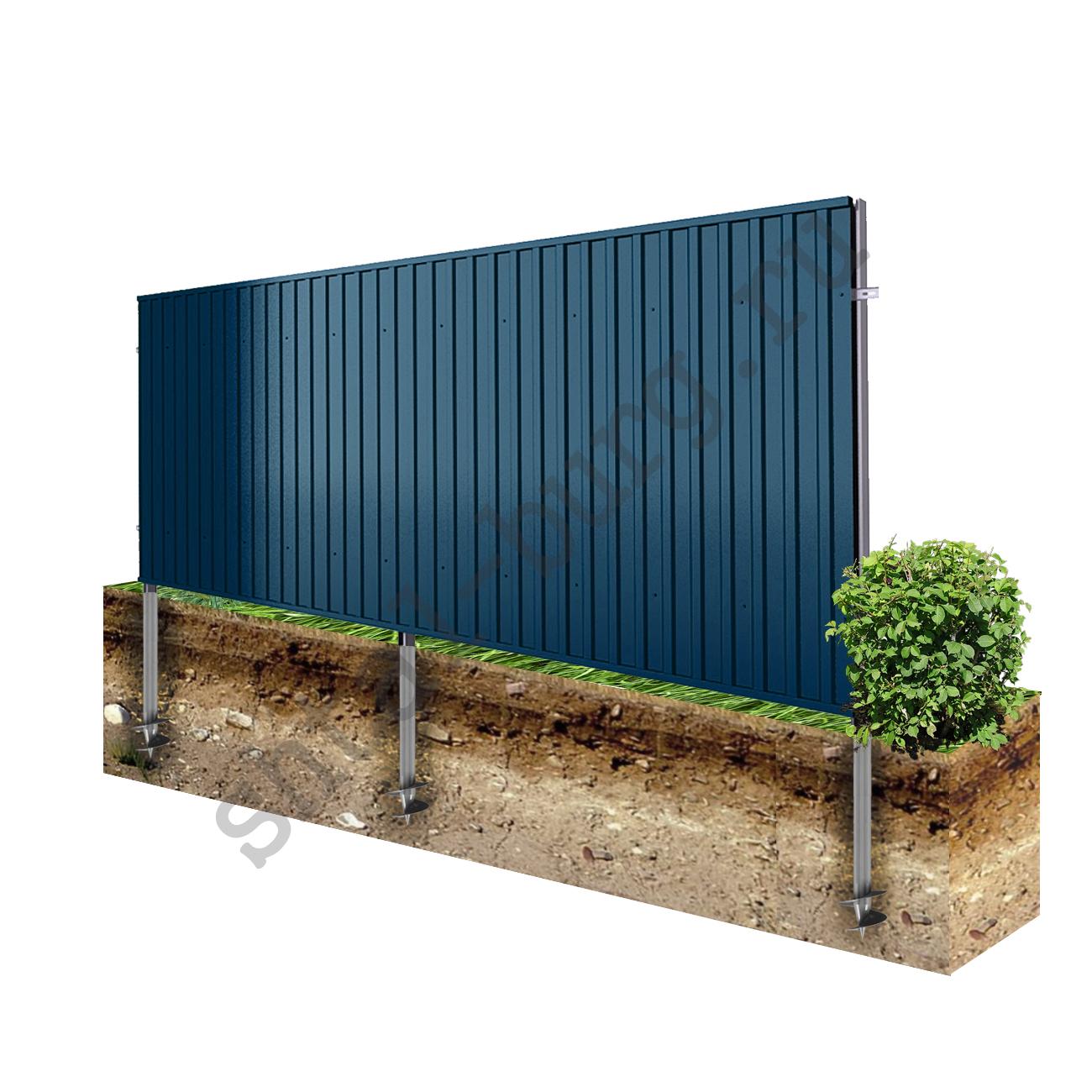 Забор и профнастила фотоотчет
