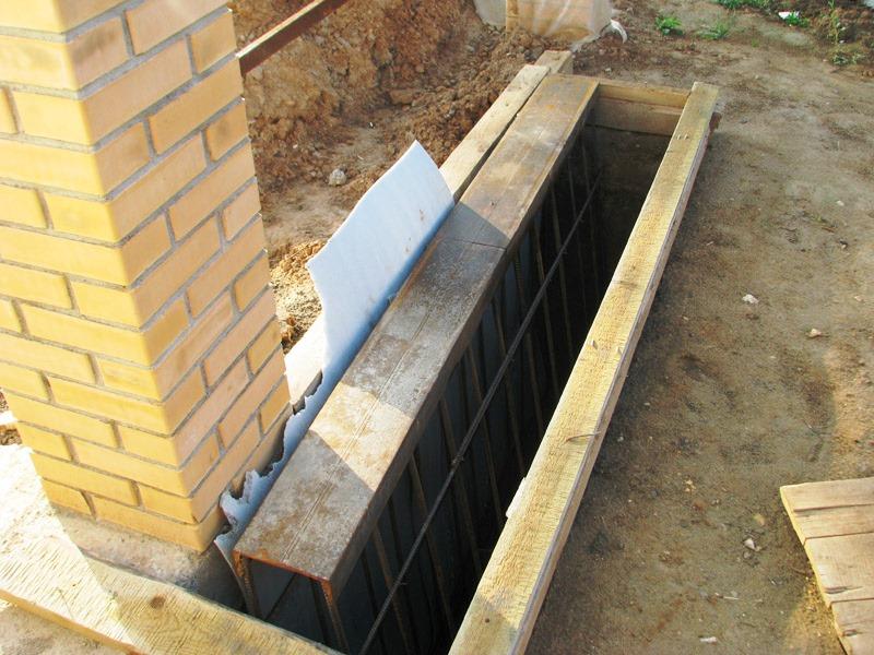 швеллер залить бетоном