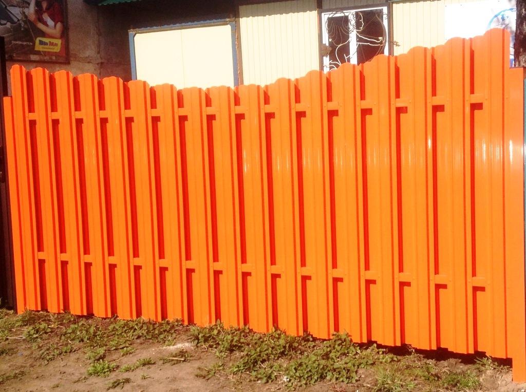 Металлический штакетник цена от производителя  Забор из