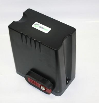 Комплект привода для откатных ворот HomeGate с блоком управления и двумя пультами, монтажная пластина DKC800ACP