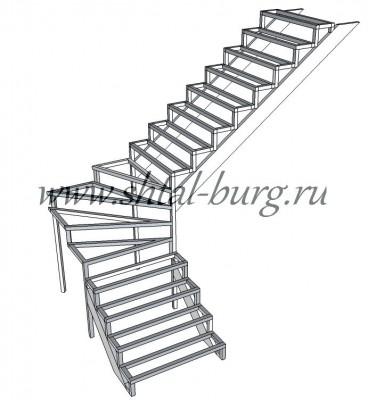Г-образные лестницы