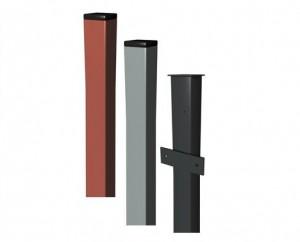 Заборы с металлическими столбами