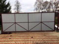 Откатные ворота 4*2м (рама 60*30, внутри 20*20)