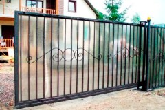 Откатные ворота из поликарбоната